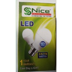 SS Nice Round 3W Cool Day Light LED Bulb, Base Type: B22
