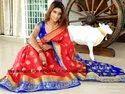 Buttery Soft Kanjivaram Silk Weaving Zari Border Saree