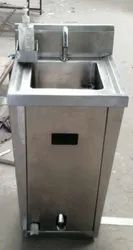 Pedal Operated Hand Wash Sink With Soap Dispenser