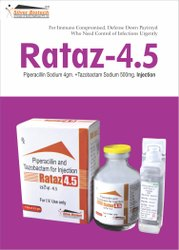Piperacillin 4gm   Tazobactum 0.5gm