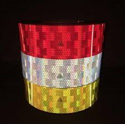 Red, White And Yellow Avery Dennison Conspicuity Tape, Size: 2 Inch