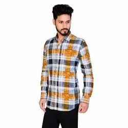 Casual Wear Aadhar Checks Shirts, Size: S To 2xl