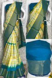 SIBORI silk saree, 5.5 m (separate blouse piece), Blouse Size: 0.80 Mtr