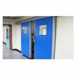 Blue Hermetically Sealed Sliding Doors, For Pharma, Powder Coated