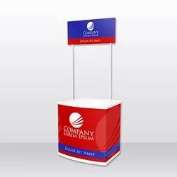 Branded ABS Plastic PVC Promo Table, For Promotion