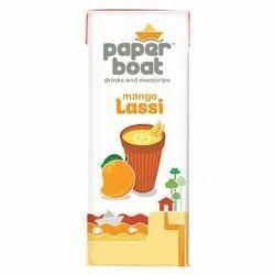 Sugar Paper Boat Mango Lassi, Packaging Size: 180 ml, Packaging Type: Packet