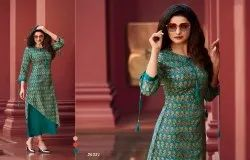 Sophisticated Dola Silk Printed Party Wear Kurti