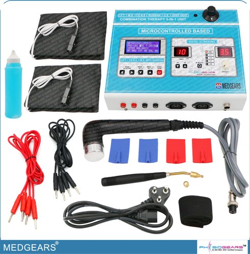 Physiotherapy 5 In 1 IFT MS Tens Ultrsound Deep Heat Machine Electrotherapy Combo for All Pain