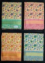 Printed Multicolor Cotton Mangalgiri Churidar Suits