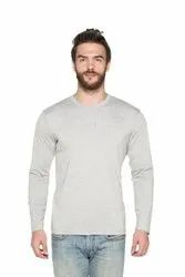 Trendy Red Round Neck Full Sleeves Cotton T-Shirt