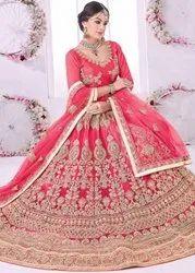 Silk,Net Wedding Wear Bridal Lehengha Choli