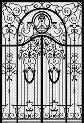 Fancy Iron Door
