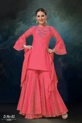 Ladies Pure Chanderi Silk Suits