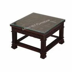 Hand Carved Wooden Center Table