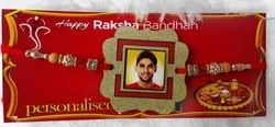 Photo Frame With Glitter Fancy Rakhi