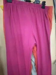 Plain Pink Ladies Leggings, Size: Free Size