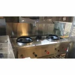 Stainless Steel Chinese Cooking Range