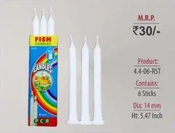Ribbed Wax Stand Candles 4.4-06-RST