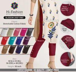 Cotton Skinny Fit Women Stretchable Lycra Pant
