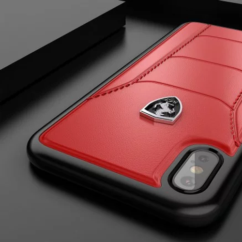 low priced aeb9c c274b Ferrari Apple iPhone XS Max Official 488 GTB Logo Double Stitched ...