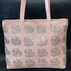 Laser cutting rose Tote Bag