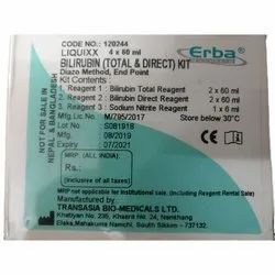 Diazo Method ERBA Bilirubin(Total & Direct) Biochemistry Reagent, Packaging Size: 4x60 Ml