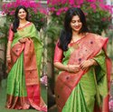 Pure Lichi Silk Saree
