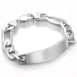 India Mens Silver Bracelet Heavy Sterling Silver Bracelet