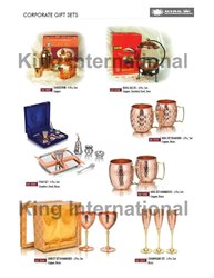 Hotelware Copper Goblet Glasses set