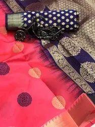 SIya Fashion Party Wear Rich Pallu Weaving Zari Butta Silk Saree