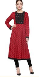 Mirror Work Cotton Kurti