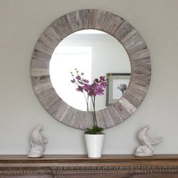 Round Stylsih Decorative Mirror Glass, For Home