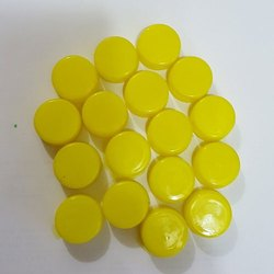 Yellow Round Plastic Bottle Cap, Packaging Type: Packet