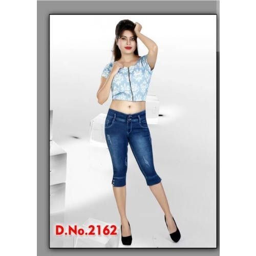 26 And 30 Ladies Denim Capri