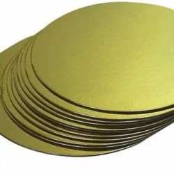 7 Inch Round Cake Base With Golden Foil