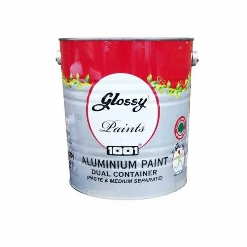Lustrious and Finish Glossy 20 Ltrs Heat Resisting Aluminium Paint