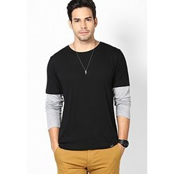 Cotton Plain Mens Full Sleeve T Shirt