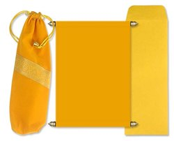 Yellow Scroll with Velvet Pouch
