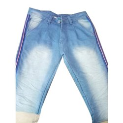 Blue Denim Faded Jeans