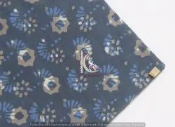 Indigo Double Dabu Hand Block Print Cotton Fabric
