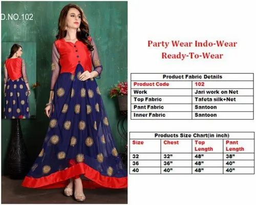 24d547277e071b Ladies Party And Ethinic Ready To Wear Indo Western Dress
