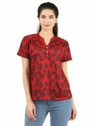 100% Polyester Women Patterned Casual Top
