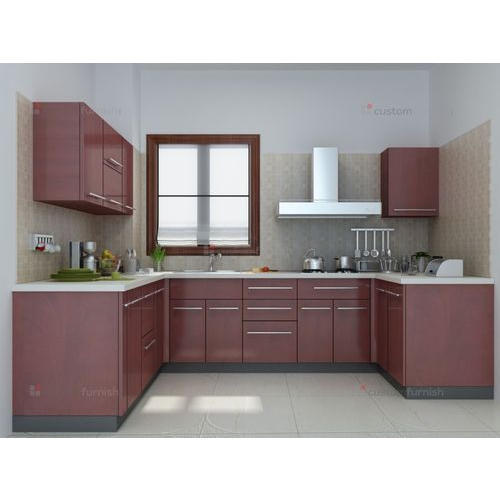 Godrej Kitchen Accessories: Modern Godrej U Shaped Modular Kitchen, Rs 1800 /square