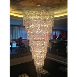 Cone Shape Crystal Hanging Chandelier