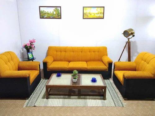 Arica 3 1 1 Sofa Set Orange Black