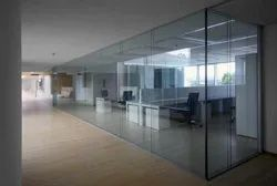 Tempered Glass Partition Work For Office