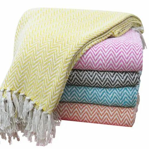100 Cotton Woven Large Zig Zag Sofa Throws Id