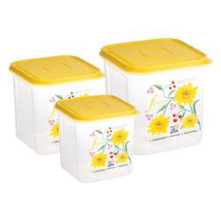 Croma PP Food Grade Container 3pc 1000, 1500, 2500