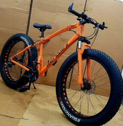 Bengshi Orange Fat Tyre Cycle