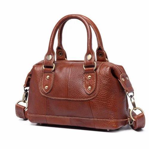 b63bdc64754d Leather Ladies Handbag, Women Leather Bag - India Craft, New Delhi ...
